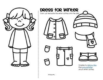 winter clothes dress boy and girl free by kidsparkz tpt. Black Bedroom Furniture Sets. Home Design Ideas