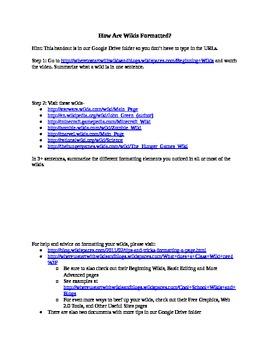 Wiki Formatting Activity