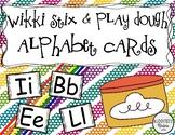 Wikki Stix and Play Dough (Play Doh) Alphabet Cards/ Mats
