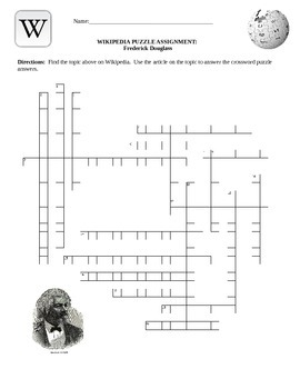 Wikipedia Biography Puzzle- Frederick Douglass Internet Assignment