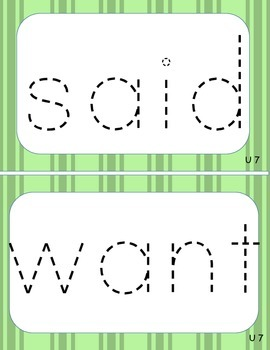 Wikki Sticks Sight Word mats