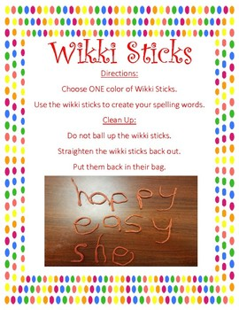 Wikki Stix Word Work