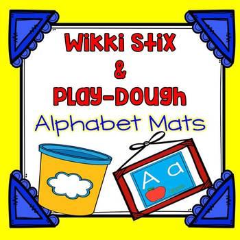 Alphabet Mats {Wikki Stix and PlayDough}