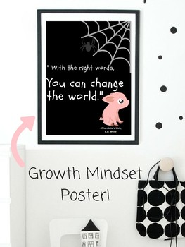 Wilbur Pig Charlotte's Web Growth Mindset POSTER Classroom Decor Theme