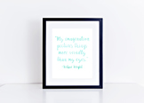 Wilbur Wright Quote Printable in Multiple Colors // Classr
