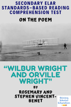 Wilbur Wright and Orville Wright Poem by R. & S. Vincent-Benet MC Reading Analys