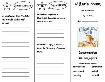 Wilbur's Boast Trifold - California Treasures 3rd Grade Unit 5 Week 4