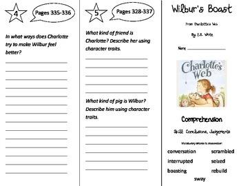 Wilbur's Boast Trifold - Treasures 3rd Grade Unit 6 Week 2 (2009)