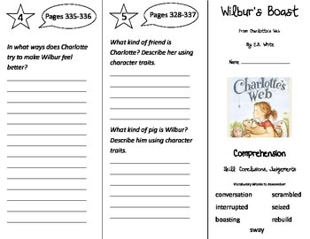 Wilbur's Boast Trifold - Treasures 3rd Grade Unit 6 Week 2 (2009)
