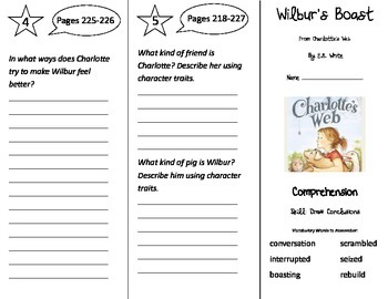 Wilbur's Boast Trifold - Treasures 3rd Grade Unit 5 Week 4 (2011)