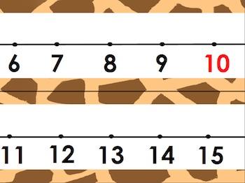 Wild #1 Number Line Animal Print