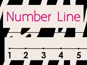 Wild #2 Number Line Zebra Animal Print