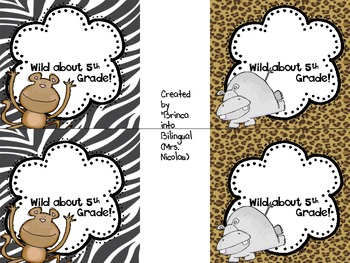 FREE - Wild About K-5th Grade Snack Bag Labels