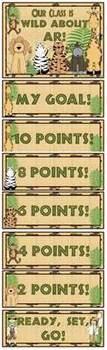 Wild About AR! Jungle Safari AR Goal Clip Chart