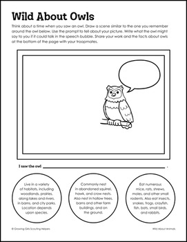 """Wild About Animals - Girl Scout Juniors - """"Animal Habitats"""" (Step 1)"""