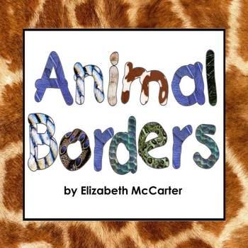 Zoo Animal Page Borders