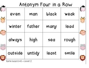 Wild About Antonyms Level 2