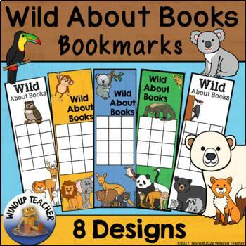 Wild About Books Reading Incentive Bookmarks
