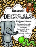Wild About Decimals- 4th Grade TEKS and CCSS Aligned
