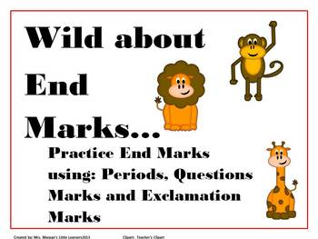 Wild About End Marks...Practice your End Mark Skills