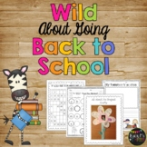 Back to School Worksheets and Activities, Math & Literacy, Crafty