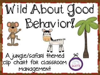 Wild About Good Behavior - Clip Chart for the Jungle/Safar