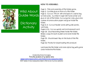 Wild About Guide Words