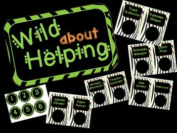 Wild About Helping Zebra Job Chart