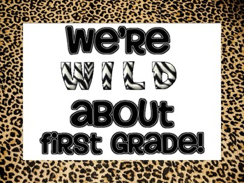 Wild About Kindergarten, 1st, 2nd, 3rd, 4th, 5th Grade (Cheetah)