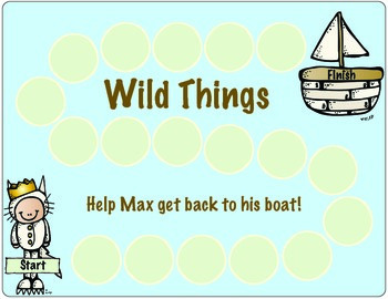 Where the Wild Things Are:  Speech Therapy Activities