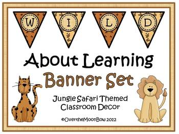 Wild About Learning Classroom Banner Set