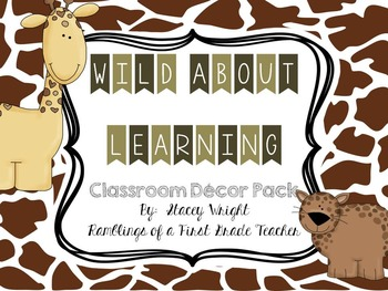 Wild About Learning Classroom Decor