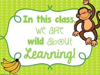 Wild About Learning Classroom Poster Freebie