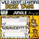 Wild About Learning Desk Tags | NAMEPLATES Jungle | Safari | Zoo | Animal Print