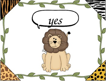 "HFW/Sight Word PowerPoint ~ ""Wild About Words"" Safari/Jungle Theme"