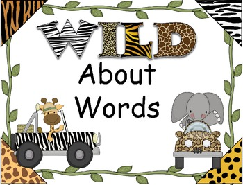 """HFW/Sight Word PowerPoint ~ """"Wild About Words"""" Safari/Jung"""