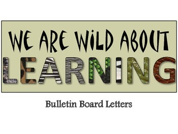Wild About Learning Letters