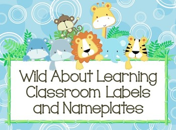 Wild About Learning: Nameplates and Labels