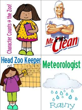 Wild About Learning Theme Classroom Jobs!