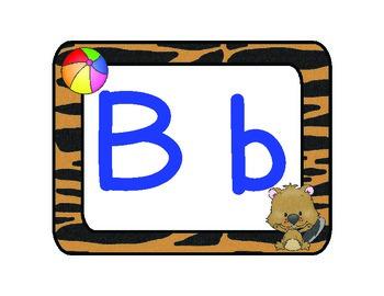 Wild About Letters! {alphabet mats}