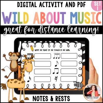 Wild About Music! Set 1: Note and Rest Values {23 Total Sheets}