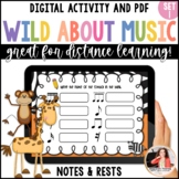 Music Worksheets: Wild About Music Set 1: Note and Rest Values