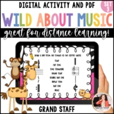 Music Worksheets: Wild About Music Set 3: Parts of the Grand Staff