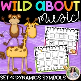 Music Worksheets: Wild About Music Set 4: Dynamics