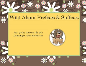 Wild About Prefixes & Suffixes Board Game