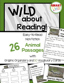 Wild About Reading: 26 Nonfiction Animal Passages with Category Charts