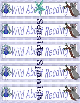 Wild About Reading Bookmarks