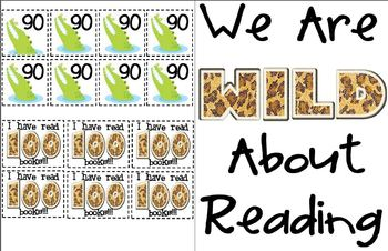 Wild About Reading - Reading Log Classroom Display - Read 100 Books
