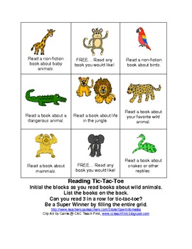 Wild About Reading Theme - Jungle or Rainforest Reading Motivators
