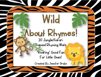 Wild About Rhymes!  ~Jungle/Safari Mats, Picture Cards & P